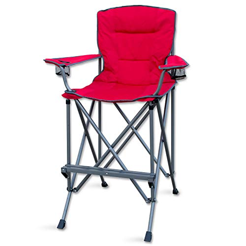 RMS Outdoors Extra Tall Folding Chair - Bar Height Director Chair for...