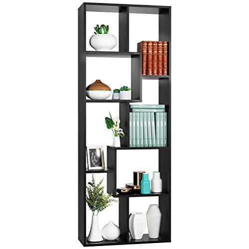 Homfa Bookcase,TV Stand 8-Cube Bookshelf, Free Standing Display...