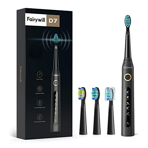 Fairywill Electric Toothbrush Powerful Sonic Cleaning - ADA Accepted...