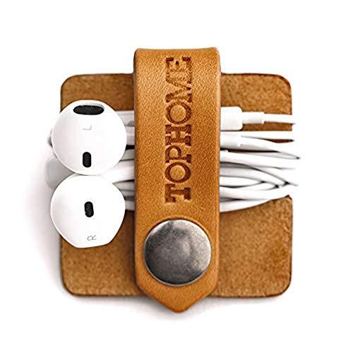 TOPHOME Cord Organizer Earbud Holder Earphones Headphones Winder...