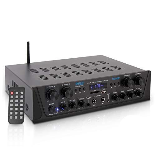 500W Karaoke Wireless Bluetooth Amplifier - 4 Channel Stereo Audio...