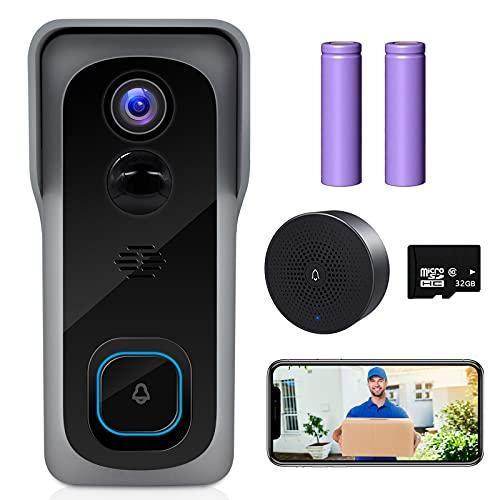【2021 Upgraded】 ZUMIMALL WiFi Video Doorbell Camera, Wireless...