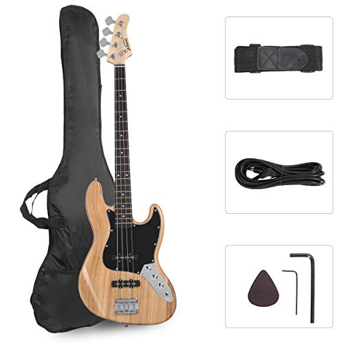 GLARRY 4 String GJazz Electric Bass Guitar Full Size Right Handed with...