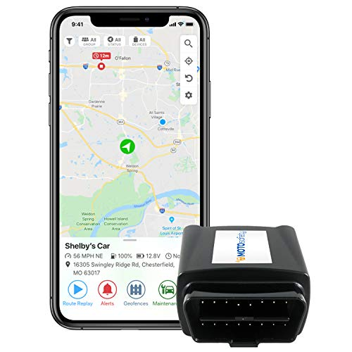 MOTOsafety OBD GPS Car Tracker, Hidden Vehicle Tracker and Monitoring...