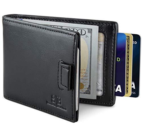 SERMAN BRANDS RFID Blocking Bifold Slim Genuine Leather Minimalist...
