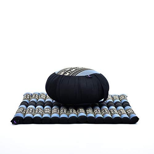 Leewadee Meditation Cushion Set: Round Zafu Pillow and Large Square...