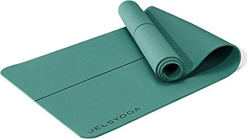 JELS Yoga Mat Fitness Mat 1/4inch Non Slip, TPE Sustainable Yoga Mats...