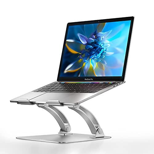 Nulaxy Laptop Stand, Ergonomic Height Angle Adjustable Laptop Riser...