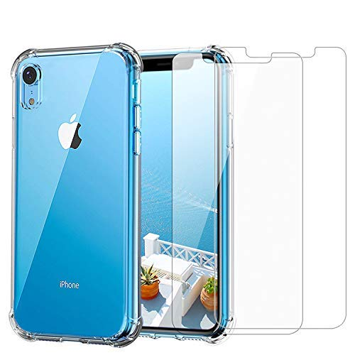 iPhone XR Clear Case & Screen Protector | 2 in 1 Bundle Package | 2...