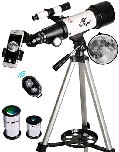 Gskyer Telescope, 70mm Aperture 400mm AZ Mount Astronomical Refracting...