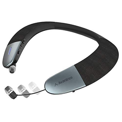 Avantree Torus Wearable Wireless Speaker, Bluetooth 5.0, aptX HD, Low...