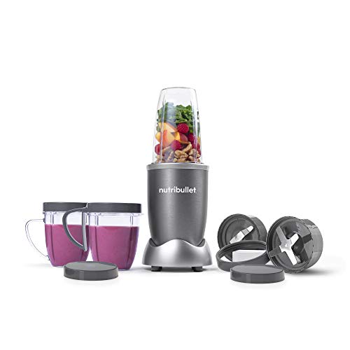NutriBullet NBR-1201 12-Piece High-Speed Blender/Mixer System, Gray...