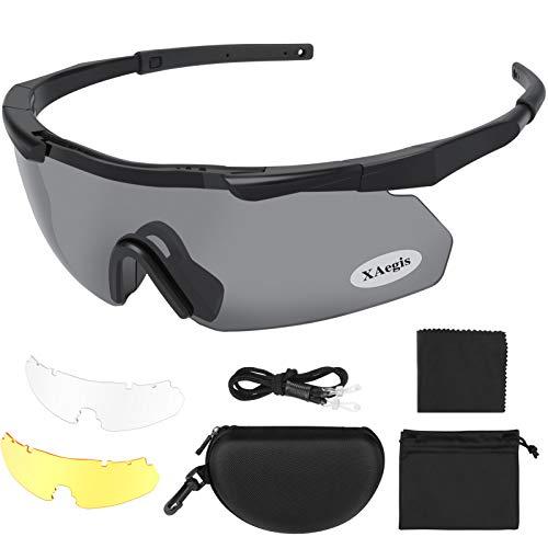 XAegis Tactical Eyewear 3 Interchangeable Lenses Outdoor Unisex...