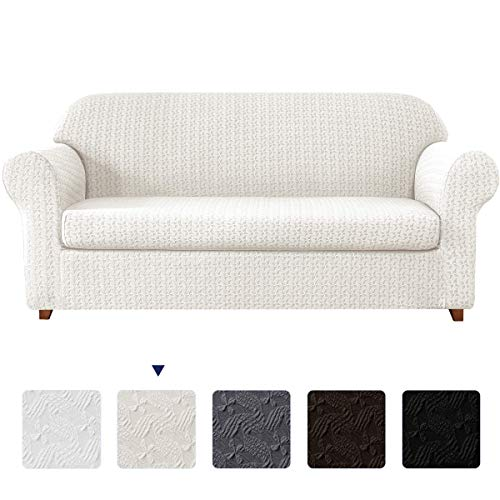 subrtex 2-Piece Couch Slip Settee Covers Loveseat High Stretch...
