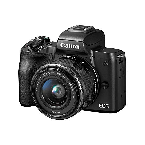 Canon EOS M50 Mirrorless Vlogging Camera Kit with EF-M 15-45mm Lens,...