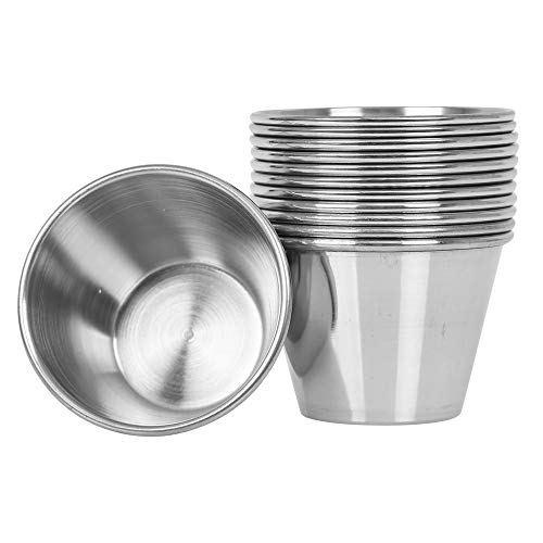 (12 Pack) Stainless Steel Sauce Cups 2.5 oz, Commercial Grade Dipping...