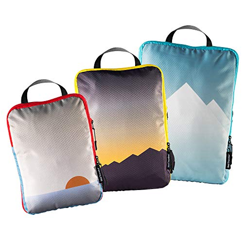Well Traveled - 3pc Compression Packing Cubes for Travel - Luggage...