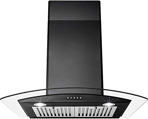 Perfetto Kitchen and Bath 30 in. Convertible Wall Mount Range Hood in...