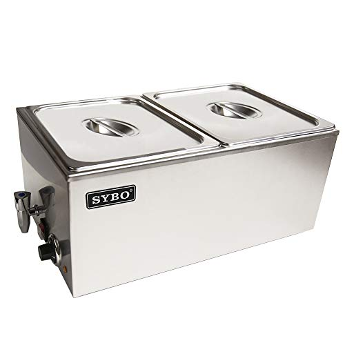 SYBO ZCK165BT-2 Commercial Grade Stainless Steel Bain Marie Buffet...