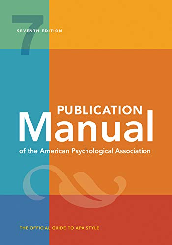 Publication Manual of the American Psychological Association: 7th...