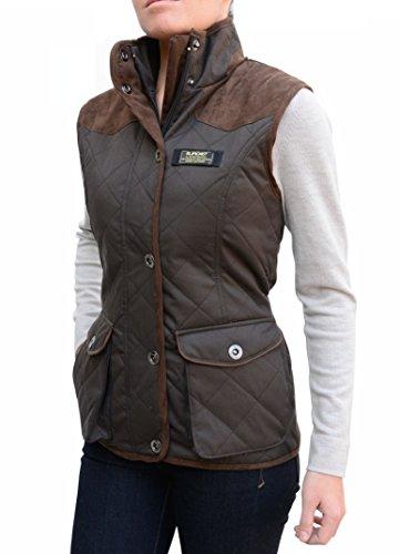 BAVIERA Women's Quilted Lightweight Vest, Large Dark Brown