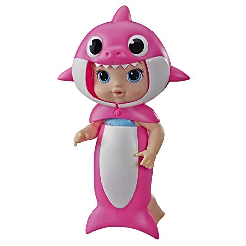 Baby Alive, Baby Shark Blonde Hair Doll, with Tail & Hood, Inspired by...