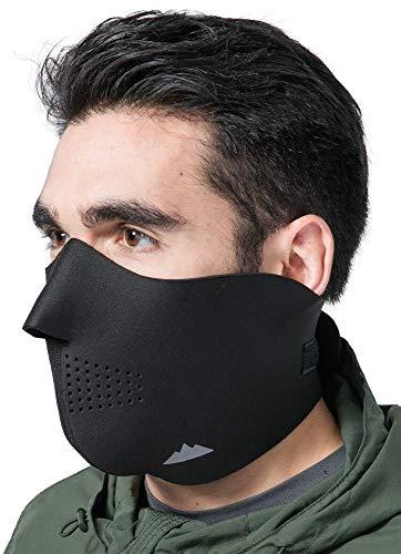 Neoprene Half Face Ski Mask for Cold Weather - Men's Windproof Winter...