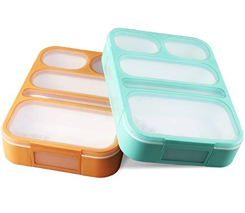 Bento Lunch Box For Kids and adults, 2 Leakproof Food & Meal Prep...