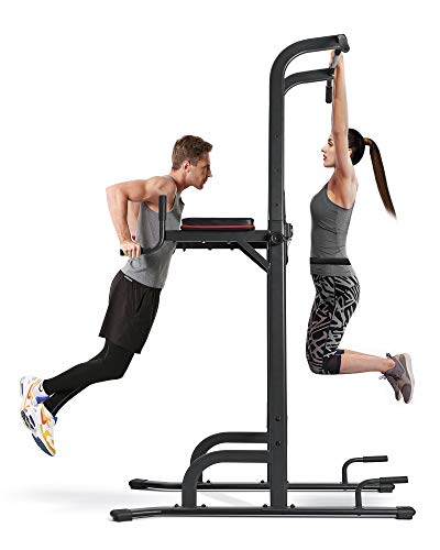MaxKare 4 Level Adjustable Power Tower Workout Dip Stand Pull Up Bar...