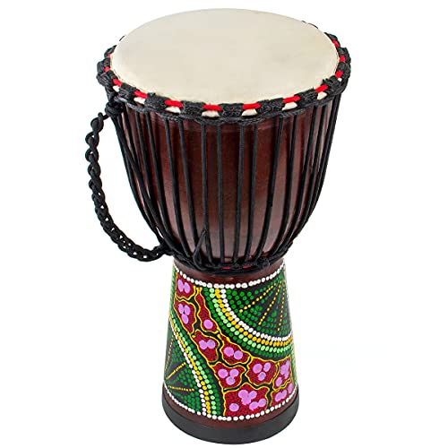Djembes African Drum, AKLOT Bongo Congo Percussion Drum Hand-Painted...