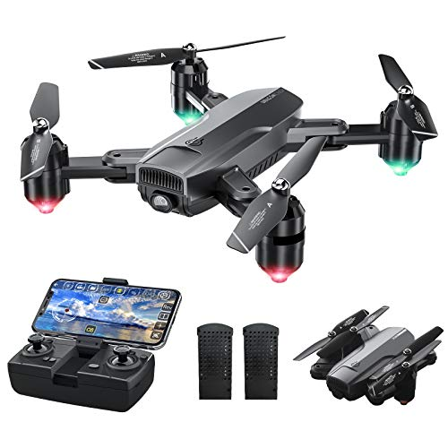 Dragon Touch DF01 Foldable Drone with Camera for Adults, WiFi FPV...