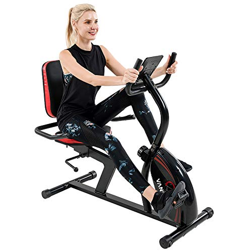 Vanswe Recumbent Exercise Bike 16 Levels Magnetic Tension Resistance...