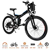 OppsDecor Folding Electric Bike with 26 Inch Wheel, Lithium-Ion...