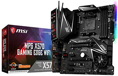 MSI MPG X570 Gaming Edge WiFi Motherboard (AMD AM4, DDR4, PCIe 4.0,...