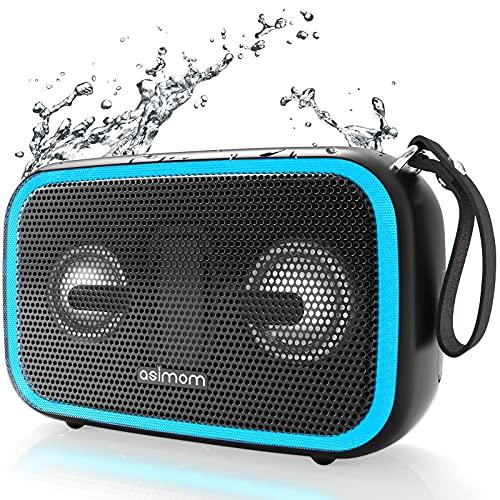 Bluetooth Speaker, ASIMOM IPX7 Waterproof Bluetooth Speakers, 28W Loud...