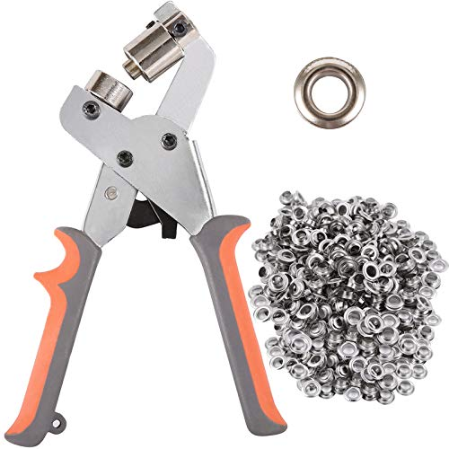 BIZOEPRO Grommet Tool Kit Grommet Press Punch Kits Grommet Machine...