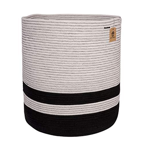 INDRESSME Goodpick Large Cotton Rope Basket - Woven Storage Basket -...
