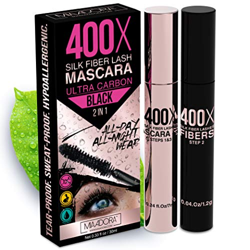 400X Pure Silk Fiber Lash Mascara [Ultra Black Volume and Length],...