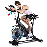 ANCHEER Exercise Bike, Indoor Cycling Bike Stationary with Heart Rate...