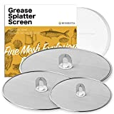Homestia Grease Splatter Screen for Frying Pan with Fold Flat Knob...