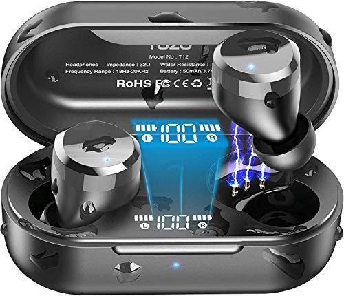 TOZO T12 Wireless Earbuds Bluetooth Headphones Premium Fidelity Sound...