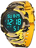 MJSCPHBJK Mens Digital Sports Watch, Waterproof LED Screen Large Face...