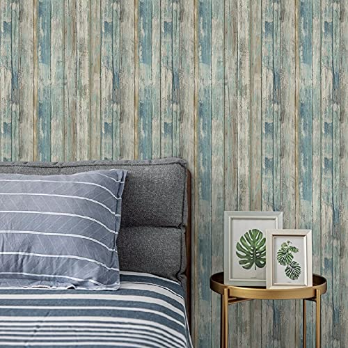 Wood Wallpaper 11.8' X 78.7' Self-Adhesive Removable Wood Peel and...