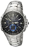 Seiko Men's COUTURA Japanese-Quartz Watch with Stainless-Steel Strap,...