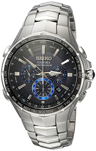 Seiko Men's COUTURA Stainless Steel Japanese-Quartz Watch with...