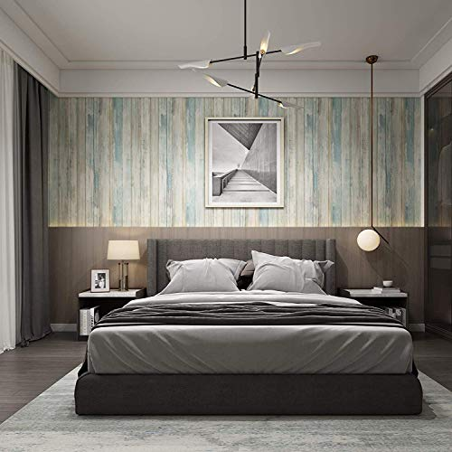 Wood Wallpaper 17.71' X 78.7' Self-Adhesive Removable Wood Peel and...
