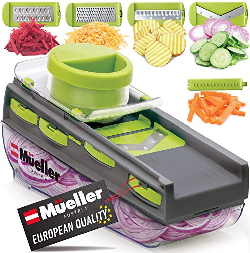 Mueller Mandoline Slicer, Premium Quality V-Pro Five Blade Adjustable...