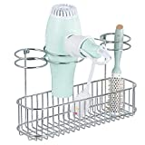 mDesign Metal Wire Cabinet/Wall Mount Hair Care & Styling Tool...