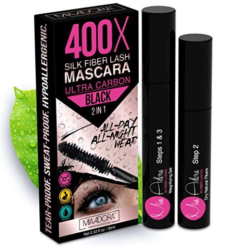400X Pure Silk Fiber Lash Mascara [Ultra Black Volume and Length],...