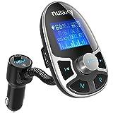 Nulaxy Bluetooth Car FM Transmitter Wireless Audio Adapter Receiver...